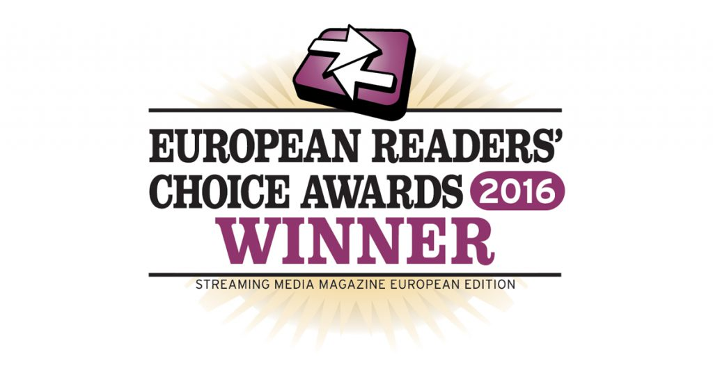 Streaming Media Europe Readers Choice Award Winner 2016